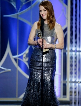 """Julianne Moore - 72nd ANNUAL GOLDEN GLOBE AWARDS - """"Still Alice"""", Winner, Best Actress - January 11, 2015 - (Photo by: Paul Drinkwater/NBC) Sunday, January 11, 2015 (LIVE 5-8 p.m. PT/8-11 p.m. ET) 2015 NBCUniversal Media, LLC"""