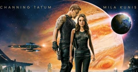 (L-R) Channing Tatem  as Caine Wise,  Mila Kunis as Jupiter Jones in Jupiter Ascending - Warner Bros. Pictures - All Rights Reserved