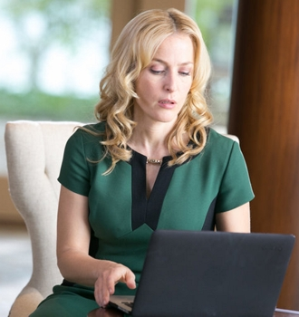 """Gillian Anderson as Meg in the episode """"Here He Comes"""" on NBC - Crisis - 2014"""