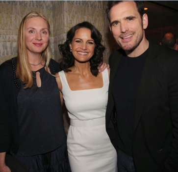 WAYWARD PINES TASTEMAKER EVENT MON APRIL 27 WAYWARD PINES: L-R: Hope Davis, Carla Gugino and Matt Dillon