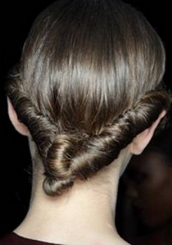 V Shaped Hair Twist - Photo courtesy of Matt Lever of Redken - Hair by Guido - All Rights Reserved