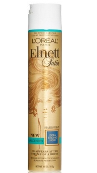 L'Oreal Paris Elnett Satin Hairspray Extra Strong Hold Unscented, 11.0 Ounce - Amazon.com
