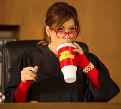 Kate Walsh As Judge Wright - Bad Judge (Photo by: Chris Haston/NBC) 2014 NBCUniversal Media, LLC.