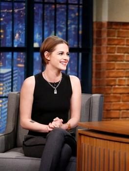 Kristen Stewart - January 15, 2015 -  LATE NIGHT WITH SETH MEYERS - (Photo by: Lloyd Bishop/NBC)<br /> NBC