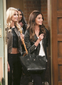 Lily Aldridge (Right) on 2 BROKE GIRLS - December 2014 on the CBS (From Left to Middle) Martha Hunt, Kerry Doyle - Photo: Neil Jacobs/CBS ©2014 CBS Broadcasting, Inc. All Rights Reservedting, Inc. All Rights Reserved
