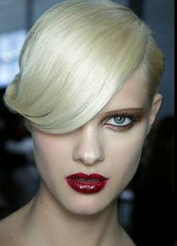 Platinum Blonde V Shaped Hair Twist - Image by Matt Lever for Redken - Hair by Redken Creative Consultant Guido