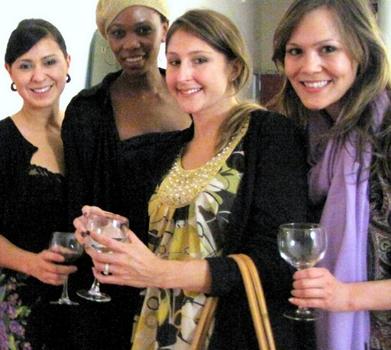 L-R: Brandi Halls of Lush, Camilla Barungi of African Moringa, Jen O'Holla of Lush, and Allie Leung of Lush - beautypress - All Rights Reserved