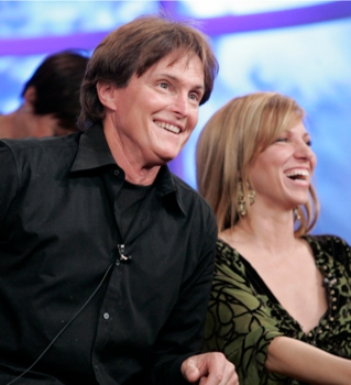 2006 - Bruce Jenner (L) and Deborah Gibson (R) of SKATING WITH CELEBRITIES  2006 FOX WINTER TCA on January 17th in Pasadena, CA. ©2006 Fox - All Rights Reserved