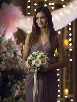 """Vampire Diaries - """"I'll Wed You in The Golden Summertime"""" Pictured: Nina Dobrev as Elena - Photo: Bob Mahoney/The CW - © 2015 The CW"""