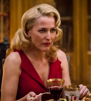 Gillian Anderson as Bedelia Du Maurier,  -- (Photo by: Brooke Palmer/NBC) Hannibal on NBC - All Rights Reserved