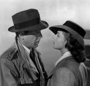 "Humphrey Bogart and Ingrid Bergman starred in ""Casablanca,"" the Oscar®-winning film of 1943 - 08/13/2002 Academy's Diamond Anniversary Screening Series ""Casablanca""  © 2015 Academy of Motion Picture Arts and Sciences"