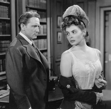 """Spencer Tracy (left) & Ingrid Bergman in """"Dr. Jekyll and Mr. Hyde."""" In celebration of Oscar®-winning composer Franz Waxman's centennial, the Academy of Motion Picture Arts and Sciences screened the 1941 films """"Suspicion"""" and """"Dr. Jekyll and Mr. Hyde,"""" both featuring Academy Award®-nominated scores composed by Waxman, at the Samuel Goldwyn Theater in Beverly Hills."""