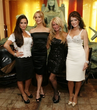 "November 3, 2010 THE REAL HOUSEWIVES OF BEVERLY HILLS-- ""The Real Housewives of Beverly Hills go to New York City"" -- Pictured: (l-r) Kyle Richards, Taylor Armstrong, Kim Richards, Lisa VanderPump -- Photo by: Jason DeCrow/Bravo Thursdays on Bravo (10-11 p.m. ET)"
