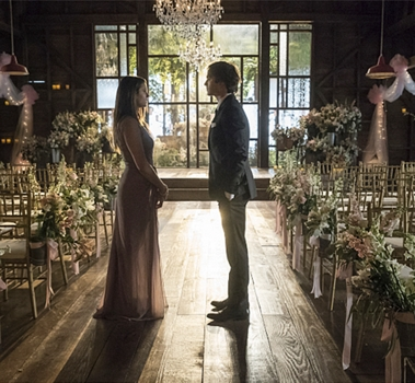 """Vampire Diaries - """"I'll Wed You in The Golden Summertime"""" Pictured (L-R): Nina Dobrev as Elena & Ian Somerhalder as Damon, - Photo: Bob Mahoney/The CW -- © 2015 The CW"""