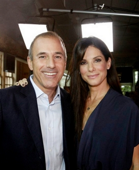 Matt Lauer & Sandra Bullock - In an exclusive interview, NBC News' at Warren Easton Charter High School in New Orleans, where Bullock has been a longtime supporter -- Photo by: Judi Bottoni/NBC