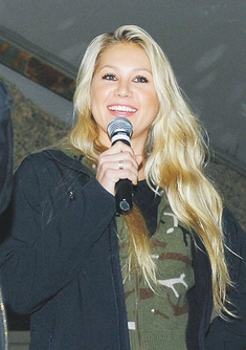 Kournikova at Bagram Air Base during a United Service Organization tour, 15 December 2009 - All Rights Reserved
