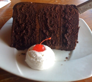Blog about Mr. Gracie's Fudgetastic Cake