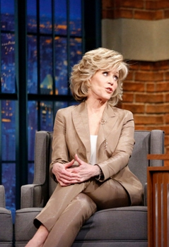 Jane Fonda - LATE NIGHT WITH SETH MEYERS - May 12, 2015 -- (Photo by: Lloyd Bishop/NBC) - 2015 NBC Universal Media, LLC