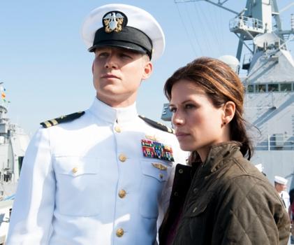 The Last Ship (TNT). (LR) Travis Van Winkle, Rhona Mitra Show The Last Ship Photographer