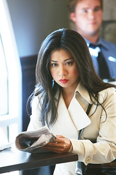 """Dagger""--Special Agent Michelle Lee (guest star Liza Lapira) with blue highlighted hair. NCIS - Photo: Monty Brinton/CBS ©2008 CBS Broadcasting Inc. All Rights Reserved."