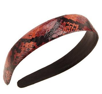 "L. Erickson USA Exotic Snakeskin 1"" Headband - Sunset<br /> from L. Erickson USA/FranceLuxe.com- All Rights Reserved"
