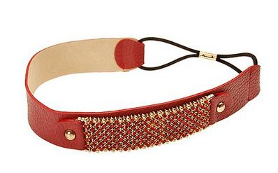 L. Erickson Palisades Crystal Leather Headwrap - Red - Amazon.com - All Rights Reserved