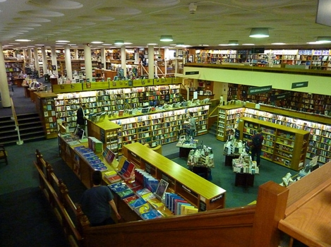 The Norrington Room in Blackwell's bookshop in Oxford contains more than 160,000 books. It is situated under the Trinity College, and is named after Sir Arthur Norrington - Photo by decltype - All Rights Reserved