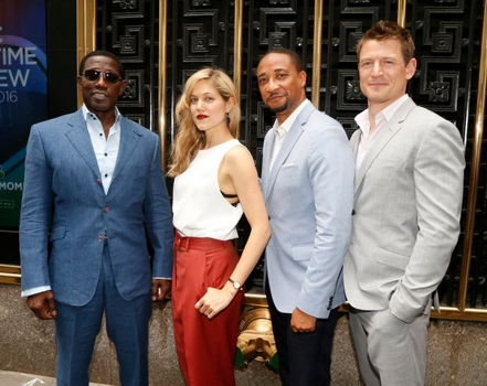 "Pictured: (l-r) Wesley Snipes, Charity Wakefield, Damon Gupton, Philip Winchester ""The Player"" - (Photo by: Peter Kramer/NBC)"