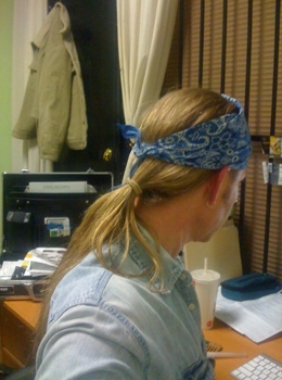 Robert Hallowell Ponytail - Sent To Karen Marie Shelton From Robert Hallowell - All Rights Reserved