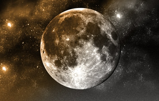 The Moon - Science-Space Theme Background - Image Licensed From GraphicStock by HairBoutique.com - All Rights Reserved