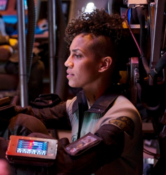 "Dominique Tipper as Naomi Nagata on THE EXPANSE - ""The Big Empty"" Episode 102 (Photo by: Rafy/Syfy) NBC Media, LLC"
