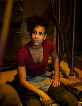 "THE EXPANSE -- ""Retrofit"" Episode 106 -- Pictured: Dominique Tipper as Naomi Nagata -- (Photo by: Rafy/Syfy) - 2014 Syfy Media, LLC"