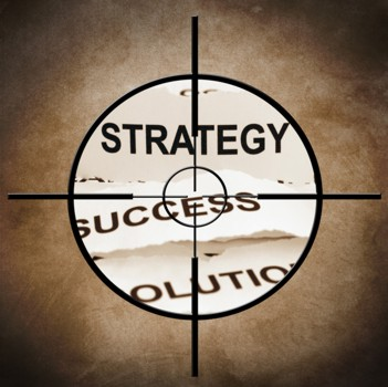 Strategy target - Job Searching Game Plan - GraphicStock - All Rights Reserved