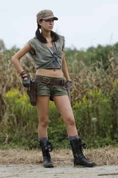 osita Espinosa (Christian Serratos) - The Walking Dead _ Season 4, Episode 11 - Photo Credit: Gene Page/AMC