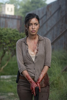 Christian Serratos' Dead Hair - Christian Serratos as Rosita Espinosa - The Walking Dead _ Season 6, Episode 2 - Photo Credit: Gene Page/AMC
