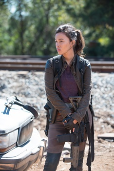 Christian Serratos' Dead Hair - Christian Serratos as Rosita Espinosa - The Walking Dead _ Season 6, Episode 14 - Photo Credit: Gene Page/AMC