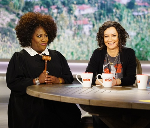 Sheryl Underwood and Sara Gilbert, shown. Photo: Sonja Flemming/CBS ©2017 CBS Broadcasting, Inc. All Rights Reserved