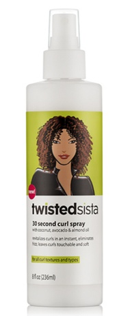 Effortless Night To Day Curls - twistedsista 30 second curl spray - All Rights Reserved