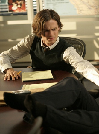 Long Male Layered -Matthew Gray Gubler As Spencer Reid - CBS Television Network. Photo: Vivian Zink/ABC Studios ©2008 ABC Studios. All Rights Reserved.