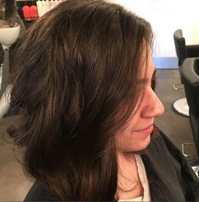 Best Curly Hair Cut In Dallas - A great 100% dry haircut showcasing natural movement and texture. Hair by Rebecca Leigh - #BlancHairSalon - All Rights Reserved