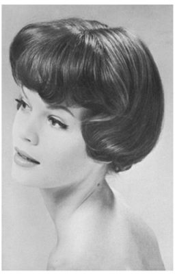 Hair Nostalgia - 1960s Glam Bob With Full Bangs - Dell Horoscope Magazine - 1961
