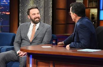 Ben Affleck on Steven Colbert - 2017