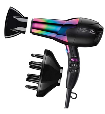 Fine-tuning Fine Curly Hair - Conair Infiniti Pro Dryer + Long Finger Diffuser Attachment - Conair - All Rights Reserved