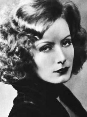 George Hurrell's Hair Halos - Publicity photo of Greta Garbo from Stars of the Photoplay - 1930