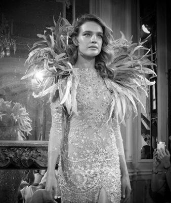 Natalia Vodianova photographiée par Gil Zetbase pendant la fashion week de Paris 2018 - Wikipedia