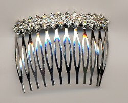 Bejeweled Hair DiamondShapeCrystalHaircomb