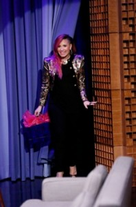 March 10, 2014 - THE TONIGHT SHOW STARRING JIMMY FALLON Demi Lovato (Photo by: Lloyd Bishop/NBC).. 2014 NBCUniversal Media, LLC