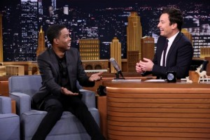 THE TONIGHT SHOW STARRING JIMMY FALLON - Pictured: (l-r) Comedian Chris Rock during an interview with host Jimmy Fallon - December 8, 2014 - (Photo by: Douglas Gorenstein/NBC)