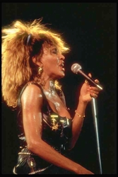 Tina Turner Teased Out Hair