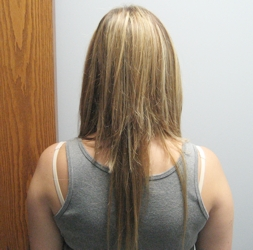 Do it yourself hair extensions tiffanytwist hairboutique articles brigid k oconnor after diy hair extensions back view 08 04 07 solutioingenieria Images